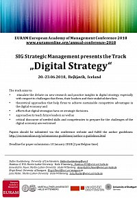 Flyer digital Strategy an der EURAM 2018